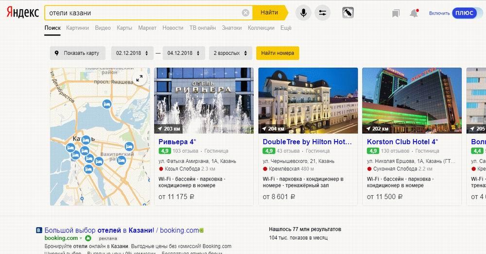 Рейтинг отелей в Казани